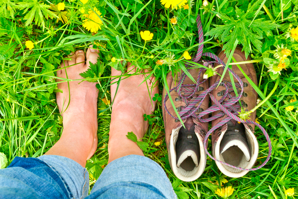 How about a barefoot walk and some FREE Antioxidants?